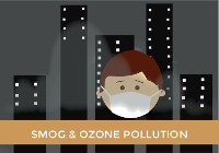 Increased greenhouse gas emissions: Over the last century, global background ozone concentrations have become 2 times larger due mainly to increases in methane and nitrogen oxides caused by human emissions.